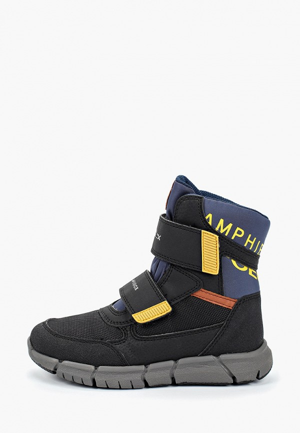 ботинки geox для мальчика, черные