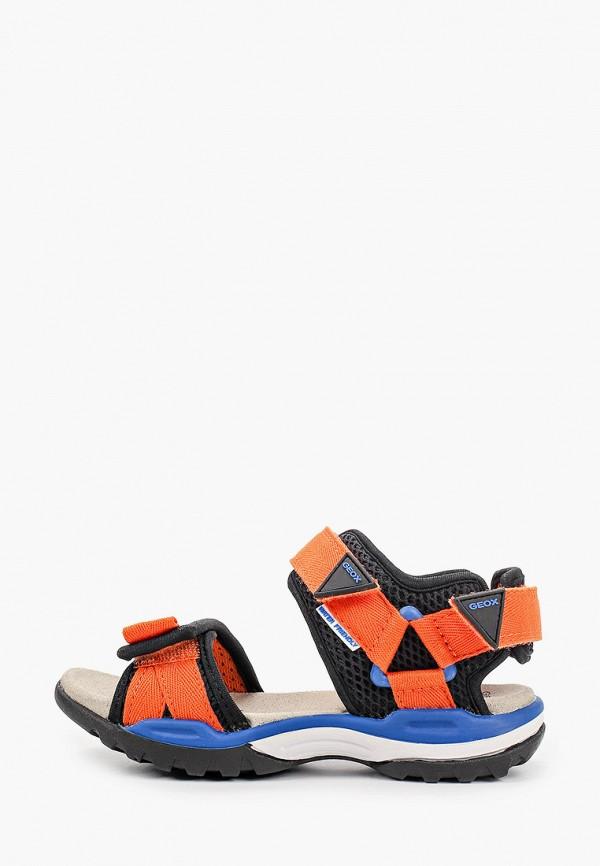 сандалии geox для мальчика, оранжевые
