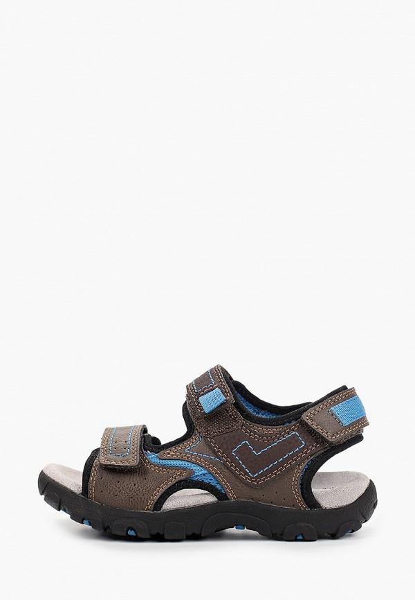 сандалии geox для мальчика, коричневые