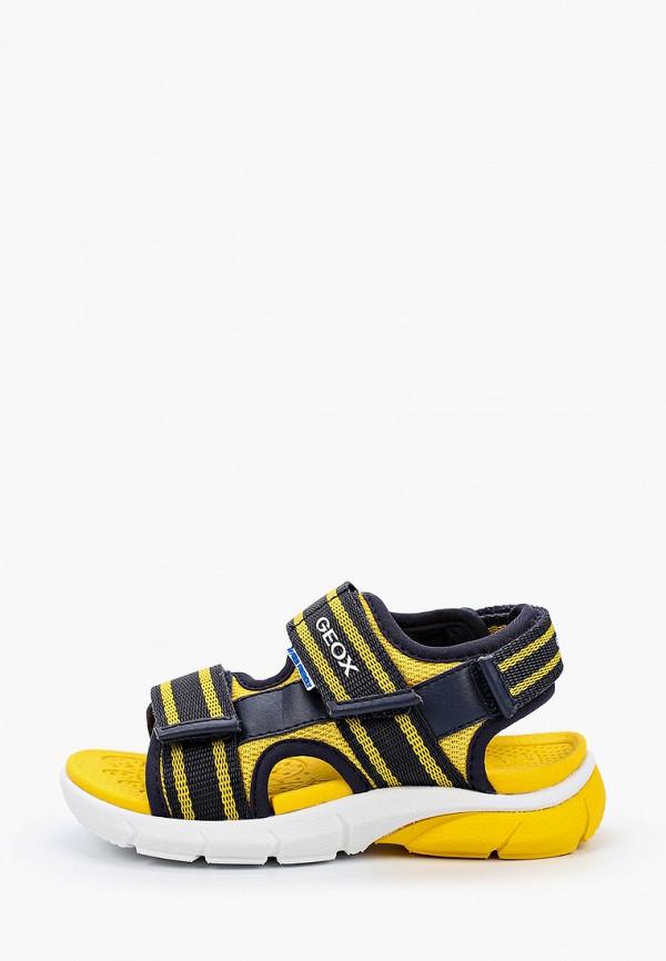 сандалии geox для мальчика, разноцветные