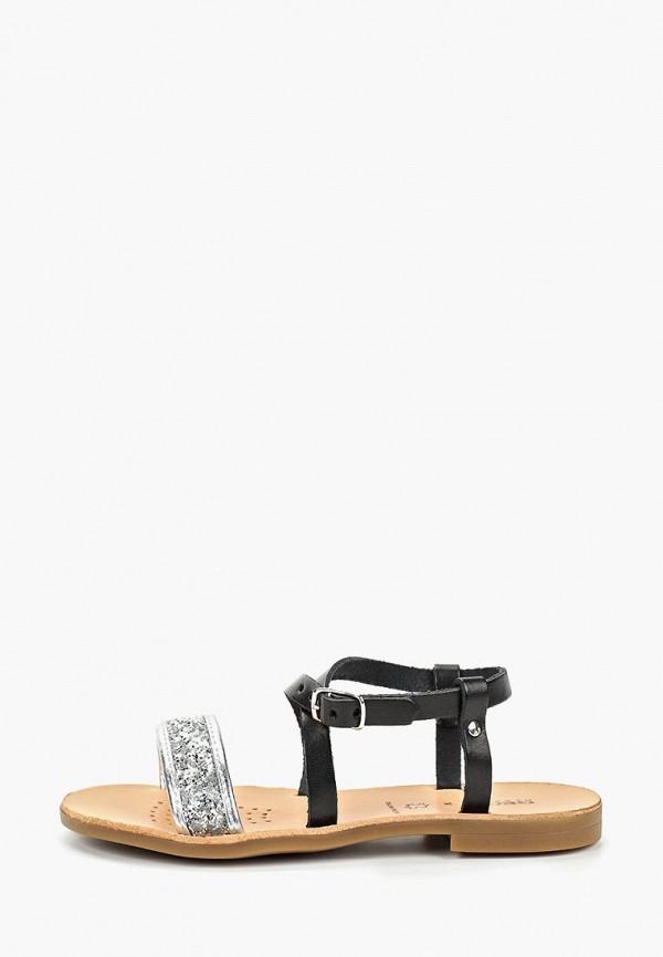 сандалии geox для девочки, черные