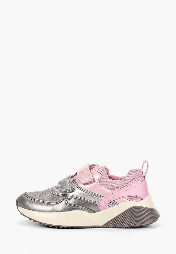 кроссовки geox для девочки, серебряные