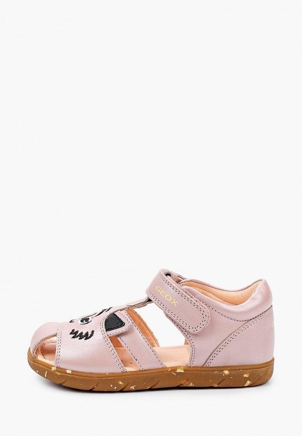 сандалии geox для девочки, розовые