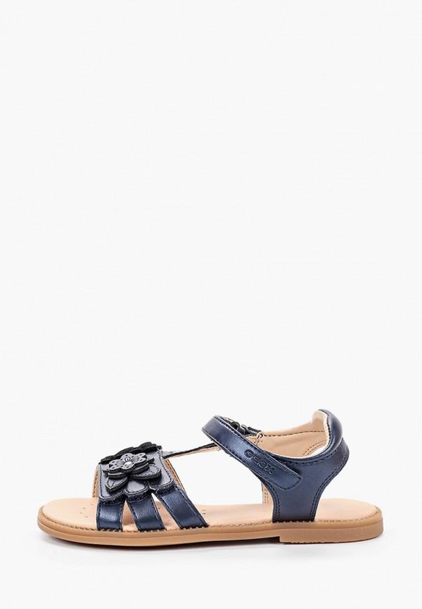 сандалии geox для девочки, синие
