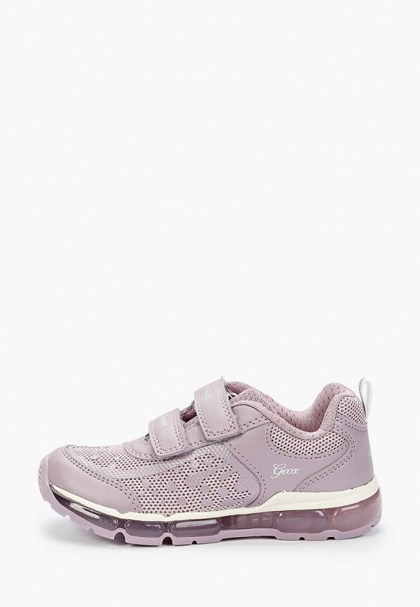 кроссовки geox для девочки, фиолетовые