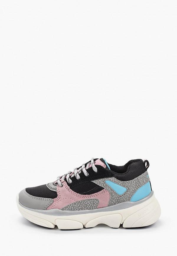 кроссовки geox для девочки, разноцветные