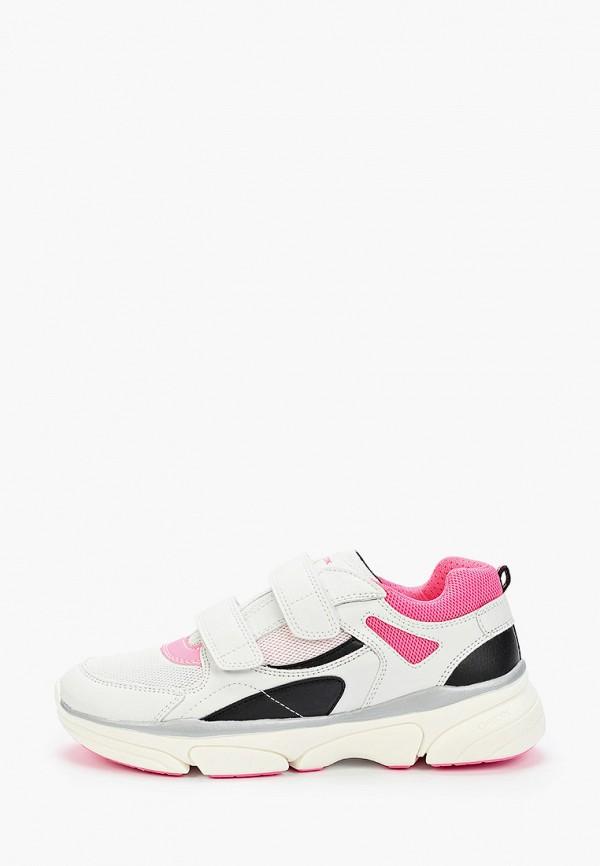 кроссовки geox для девочки, белые
