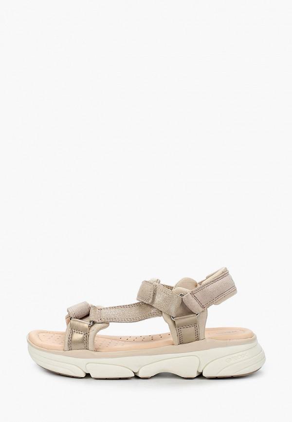 сандалии geox для девочки, бежевые