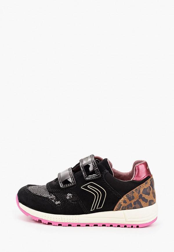 кроссовки geox для девочки, черные