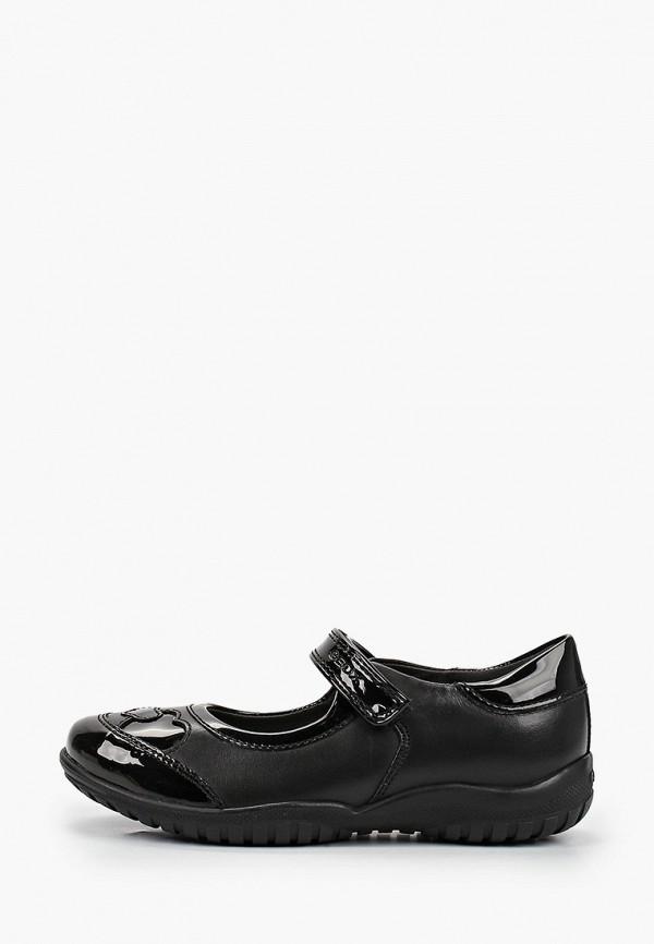 туфли geox для девочки, черные