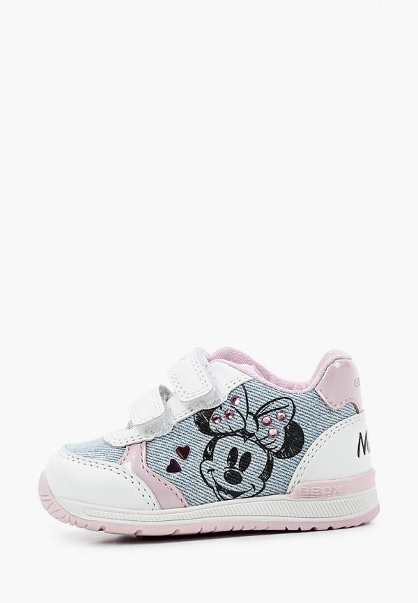 кроссовки geox для девочки, голубые