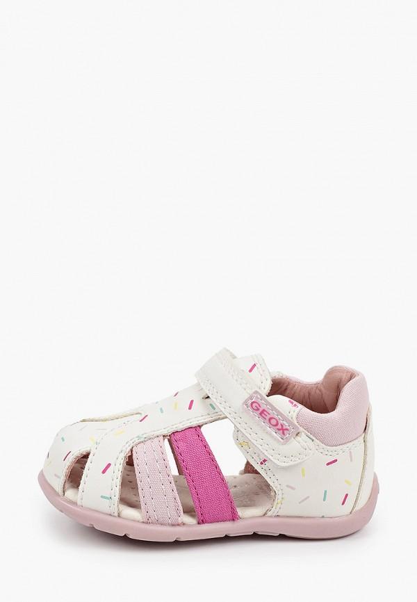 сандалии geox для девочки, белые