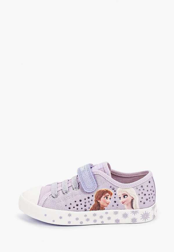 кеды geox для девочки, фиолетовые