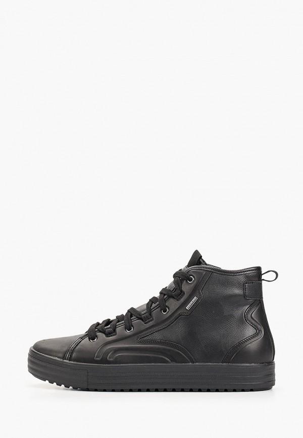 мужские высокие ботинки geox, черные