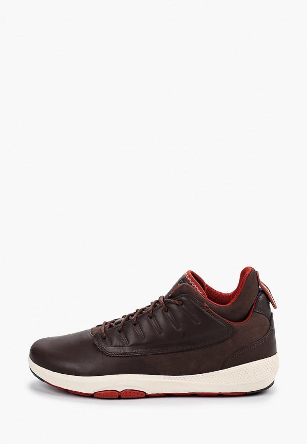 мужские кроссовки geox, коричневые