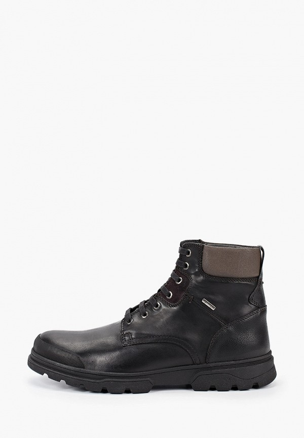 мужские ботинки geox, черные
