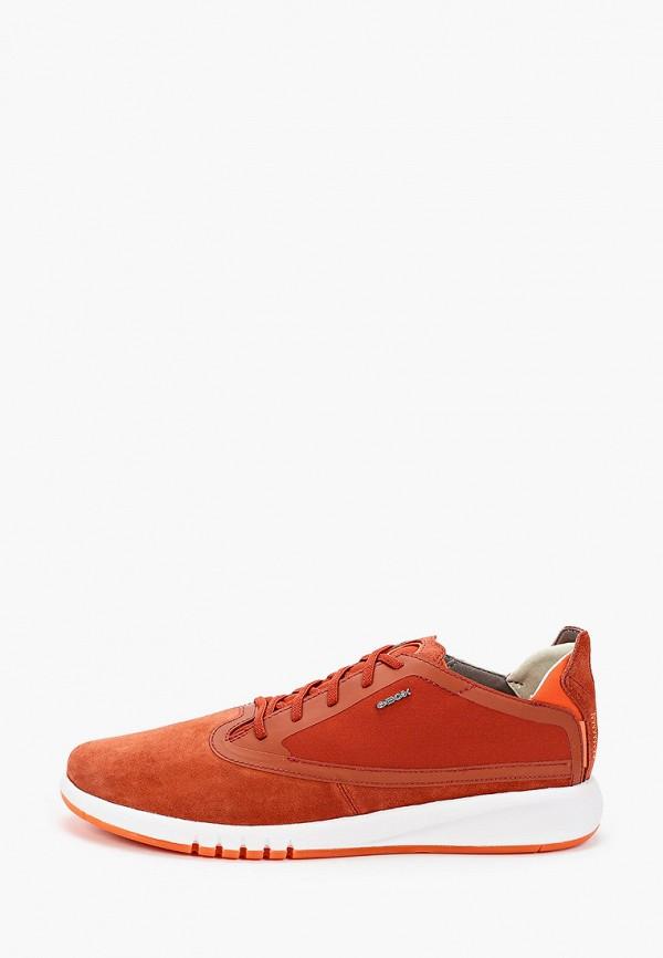 мужские низкие кроссовки geox, оранжевые