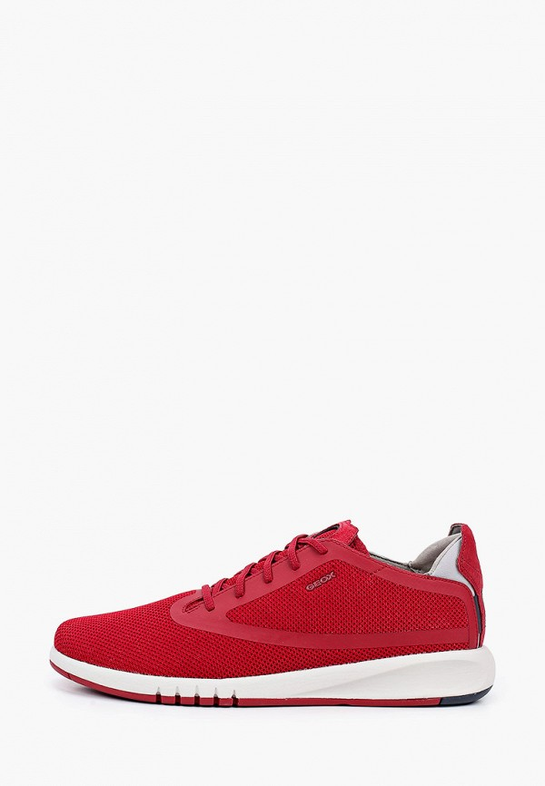 мужские низкие кроссовки geox, красные
