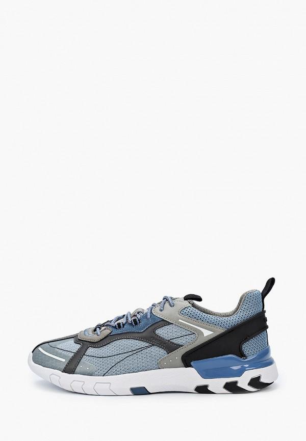 мужские низкие кроссовки geox, голубые