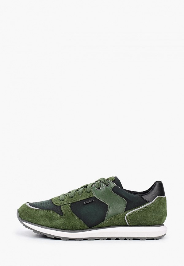 мужские низкие кроссовки geox, зеленые