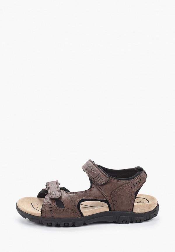 мужские сандалии geox, коричневые
