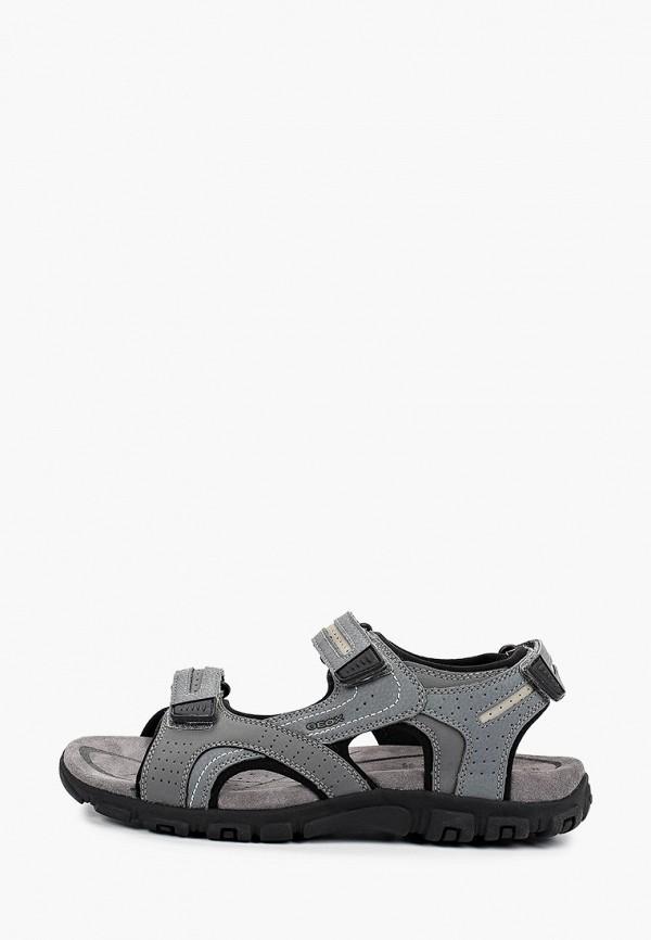 мужские сандалии geox, серые