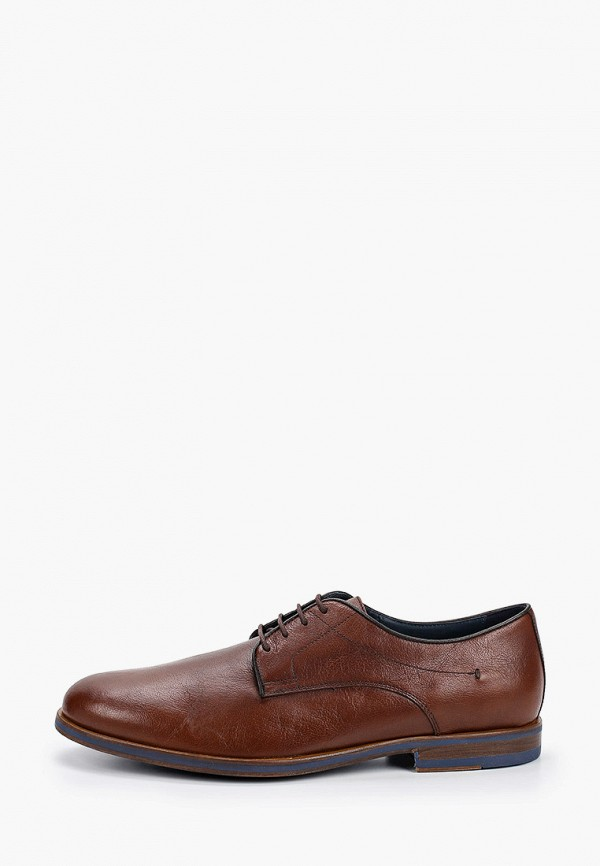 мужские туфли-дерби geox, коричневые