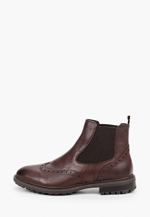 мужские ботинки-челси geox, коричневые