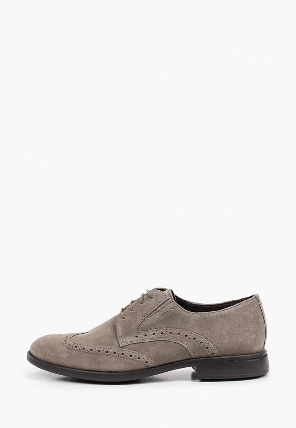 мужские туфли-дерби geox, серые