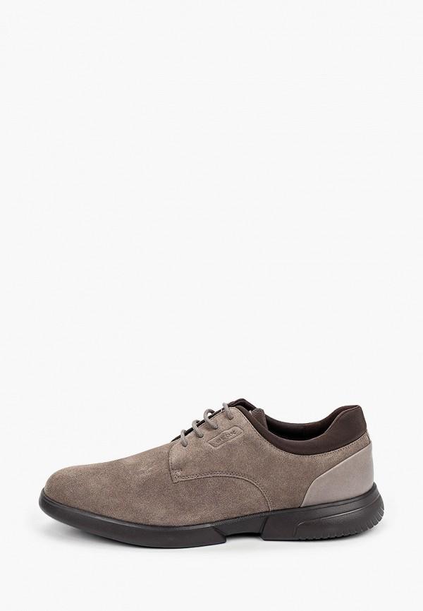 мужские туфли geox, серые