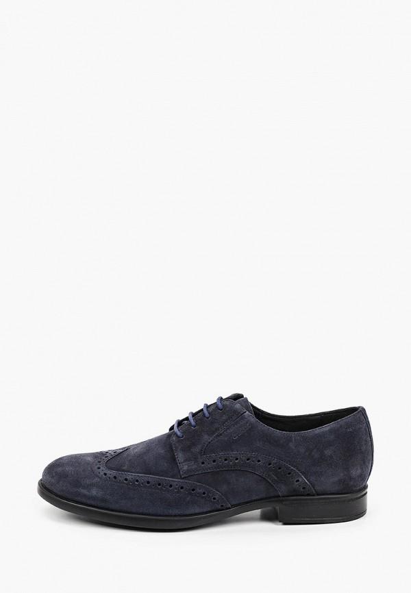 мужские туфли-дерби geox, синие