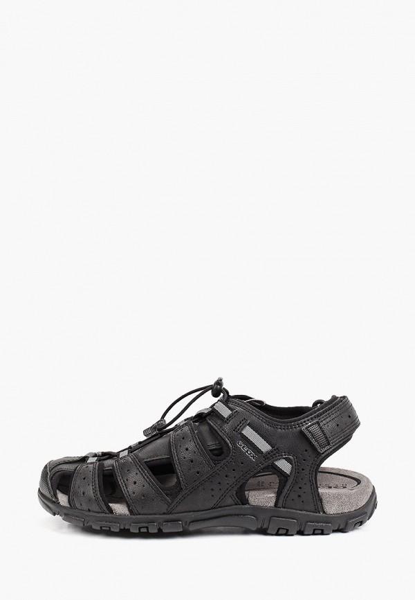 мужские сандалии geox, черные