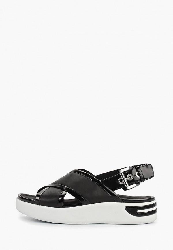 женские сандалии geox, черные