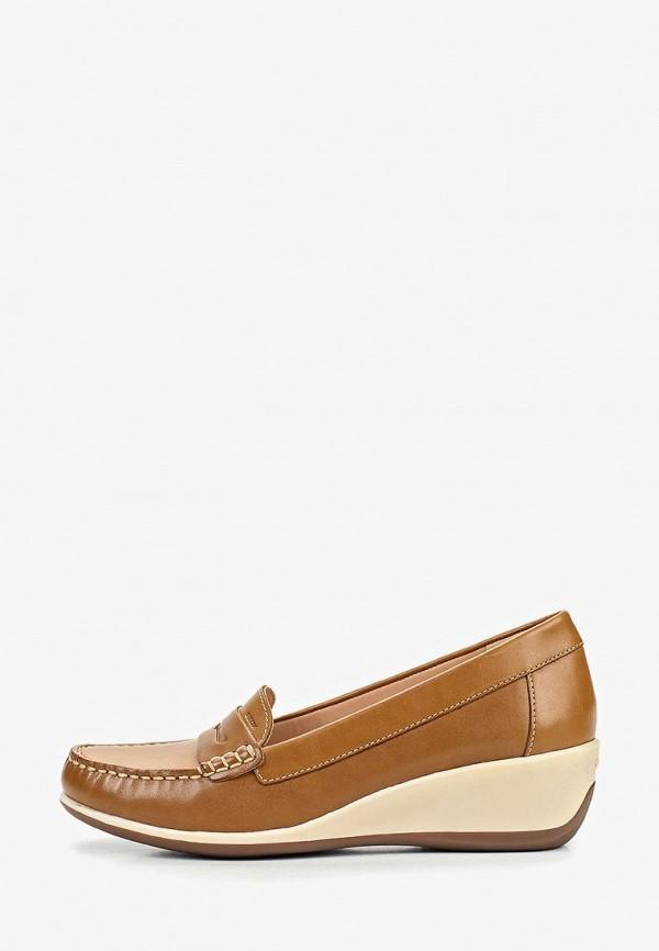 женские туфли geox, коричневые