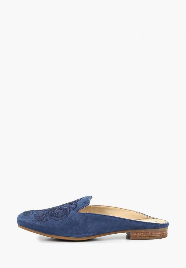 женское сабо geox, синее