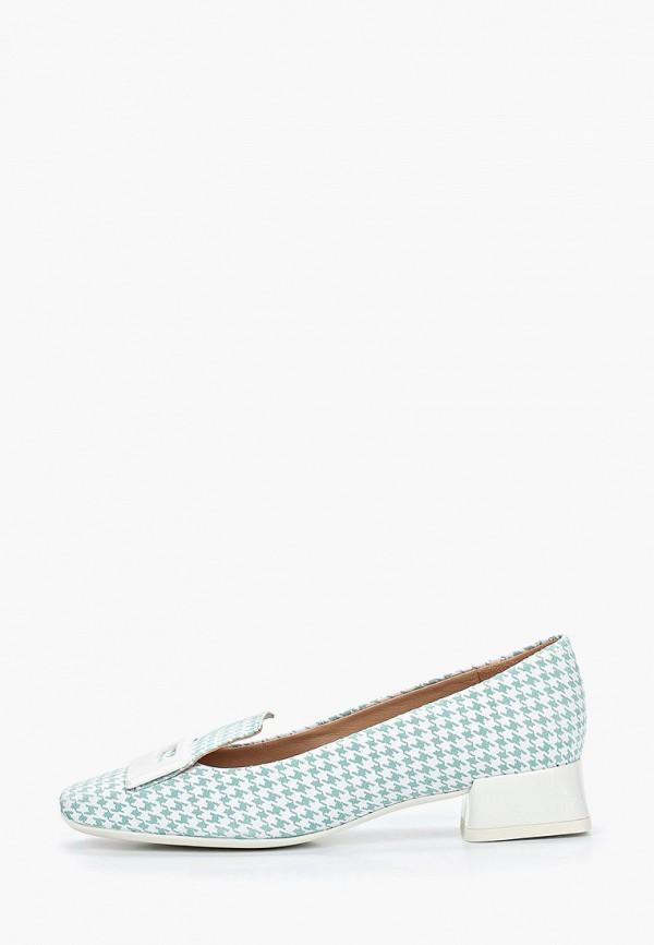 женские туфли с закрытым носом geox, зеленые