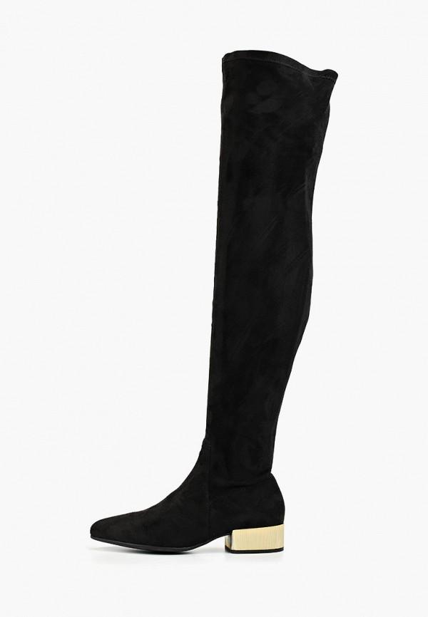 женские ботфорты geox, черные
