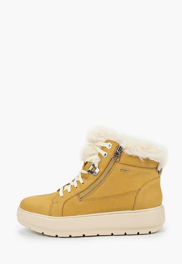 женские ботинки geox, желтые