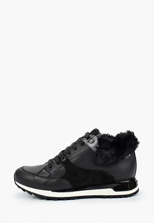 женские кроссовки geox, черные