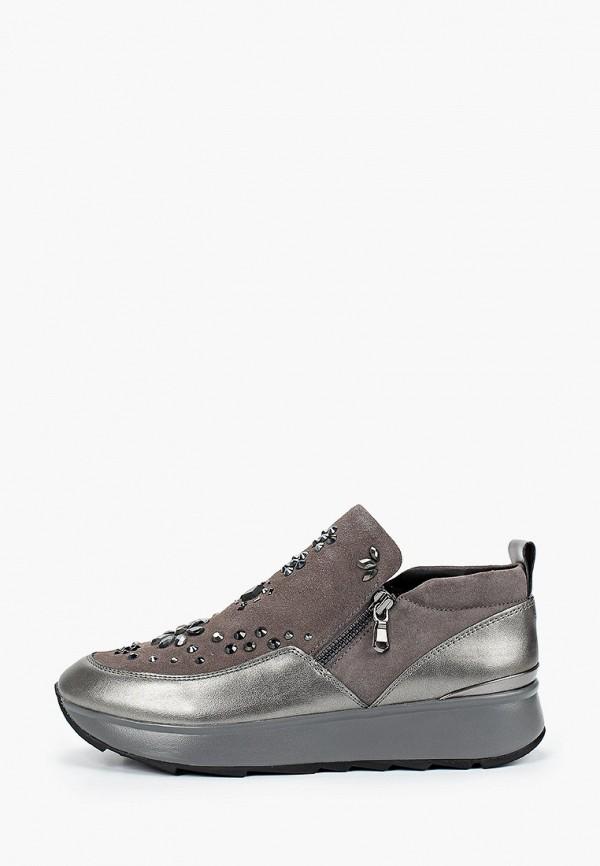 женские ботинки geox, серые