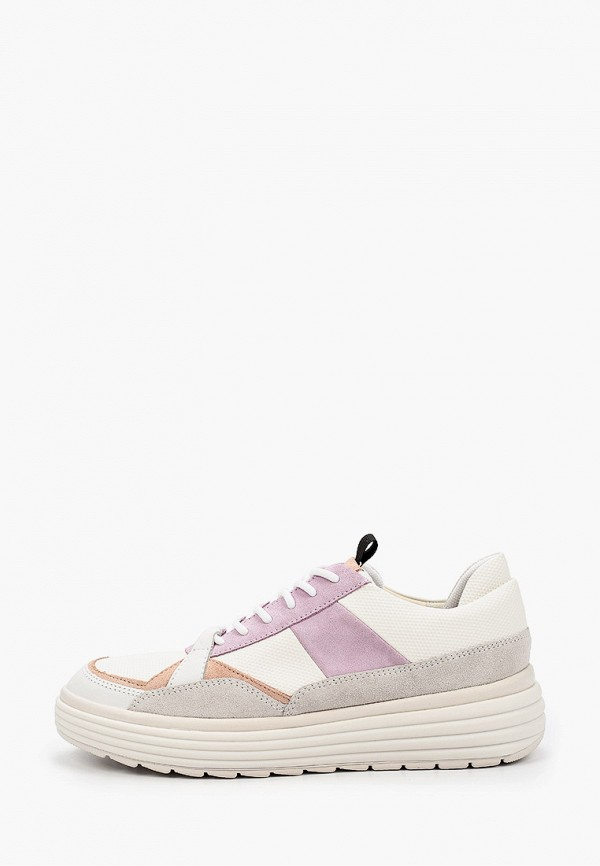 женские низкие кроссовки geox, розовые