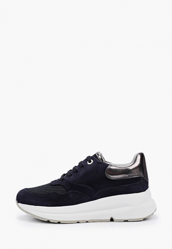 женские низкие кроссовки geox, синие