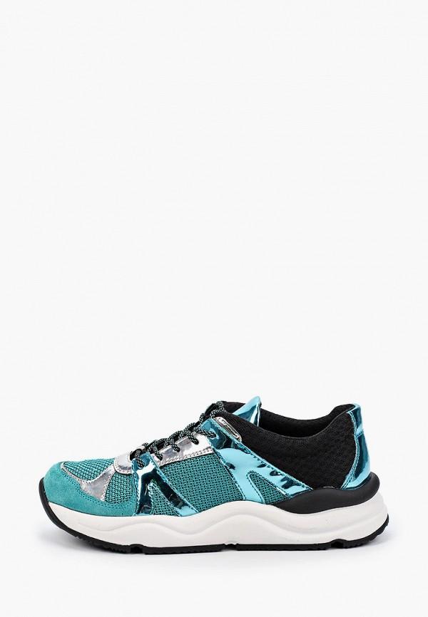 женские низкие кроссовки geox, бирюзовые