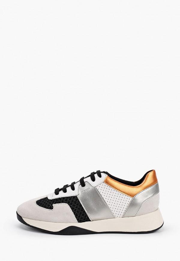 женские кроссовки geox, белые