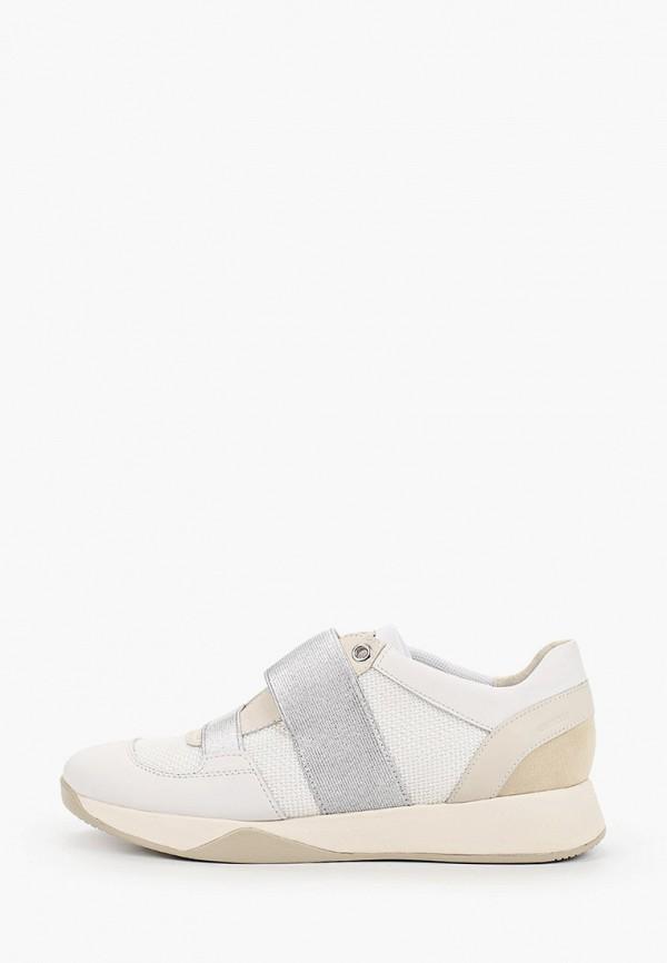 женские низкие кроссовки geox, белые