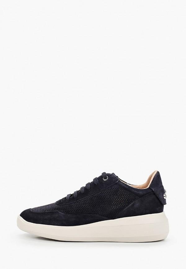 женские низкие кроссовки geox, черные