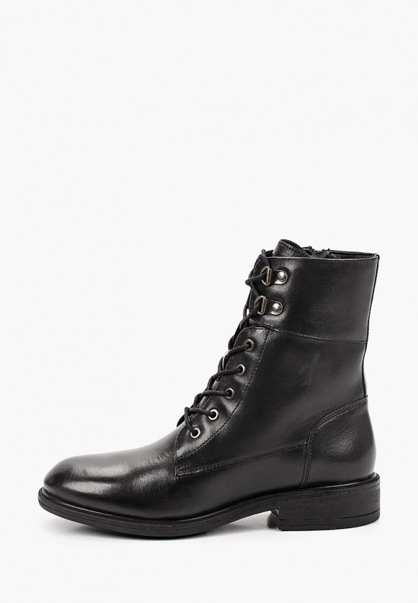 женские высокие ботинки geox, черные