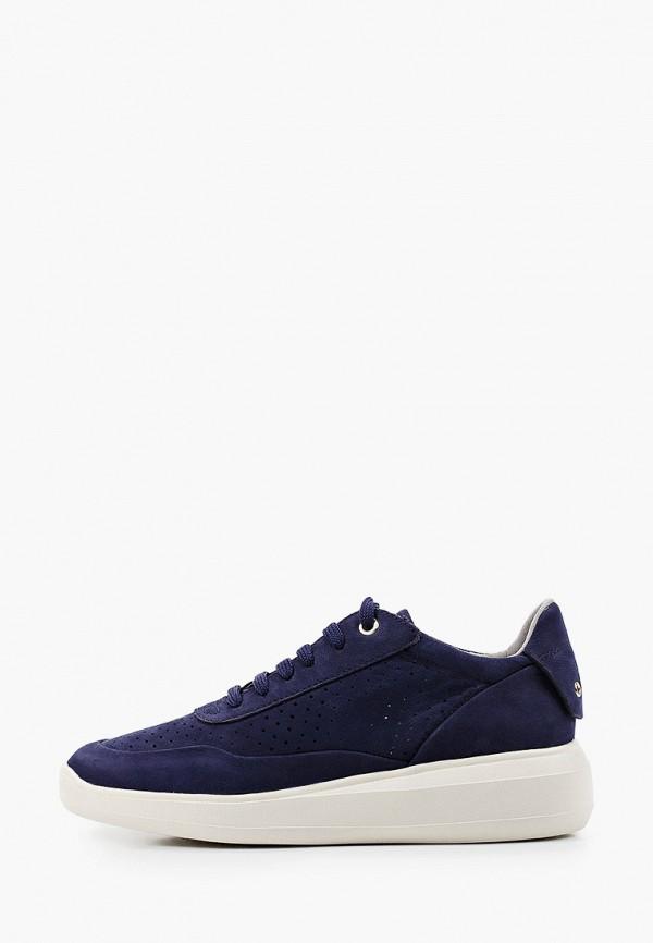 женские низкие ботинки geox, синие
