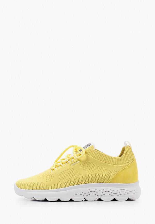 женские низкие кроссовки geox, желтые