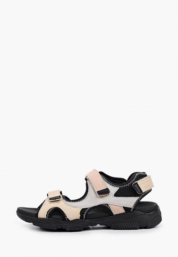 женские сандалии geox, бежевые
